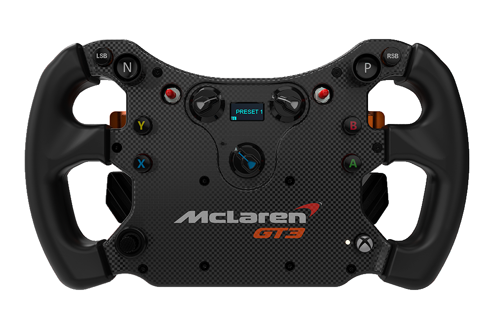 volant fanatec gt3 mclaren 1 objectif racing le hub des simracers sur pc ps4 et xbox one. Black Bedroom Furniture Sets. Home Design Ideas