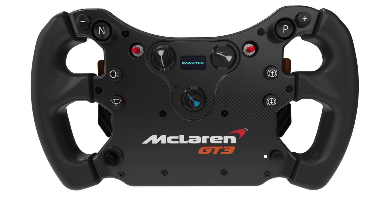 le volant fanatec mclaren gt3 en vid o objectif racing le hub des simracers sur pc ps4 et. Black Bedroom Furniture Sets. Home Design Ideas
