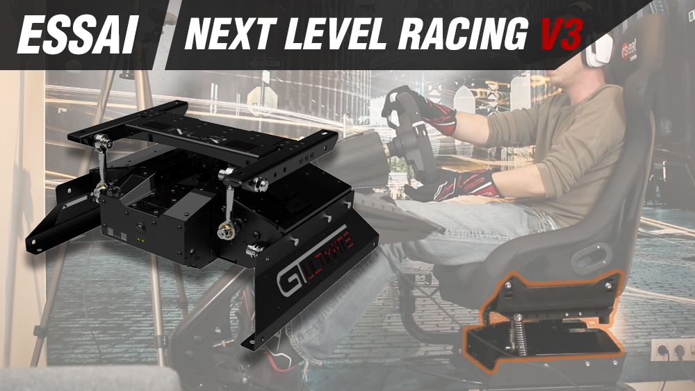 next level racing v3 motion system objectif racing le hub des simracers sur pc ps4 et. Black Bedroom Furniture Sets. Home Design Ideas
